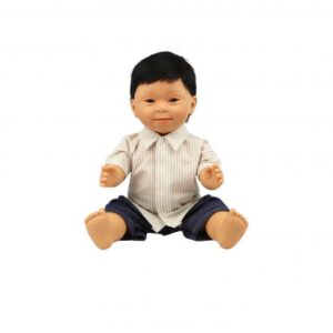 asian boy doll with down syndrome features