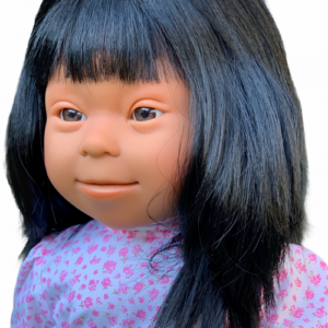 hispanic girl doll with down syndrome features
